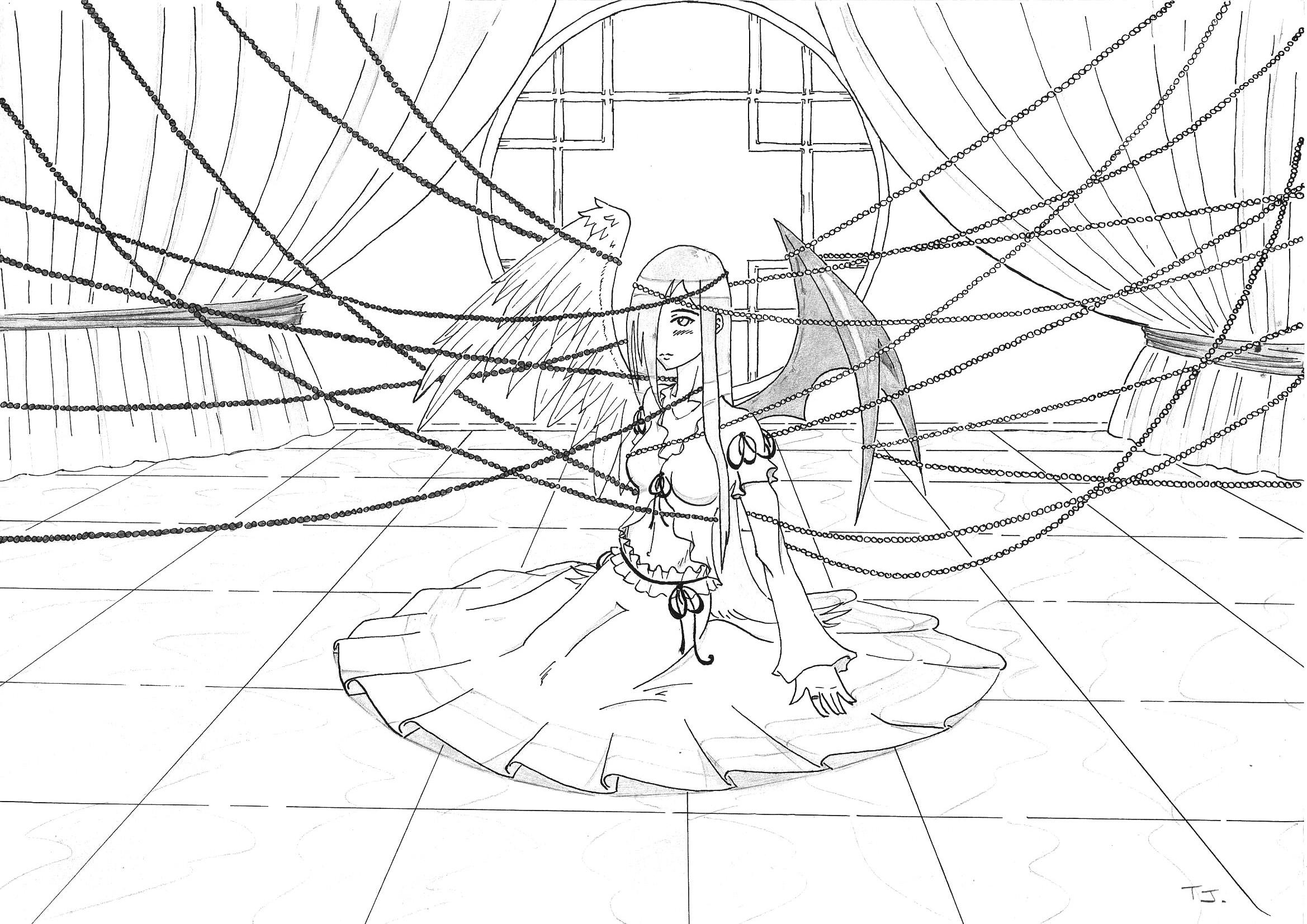 Coloriage de ange et demon manga - Dessin de demon ...